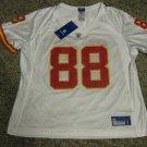 Tony Gonzalez Kansas City Chiefs Women's White Large Reebok Replica Jersey