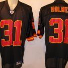 Priest Holmes Kansas City Chiefs Black Alternate 2XL Reebok Replica Jersey