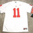 Ohio State Buckeyes #11 White Large 2009 Nike Replica Football Jersey