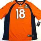 Peyton Manning Denver Broncos Orange 2XL Super Bowl 50 Commemorative Nike Game Jersey