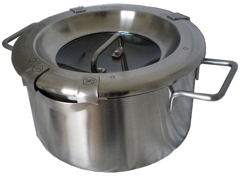 MICHNIK 3.5 Qt Stock Pot 8 in 1, Satin, Stainless Steel, Adjustable Straining, Induction