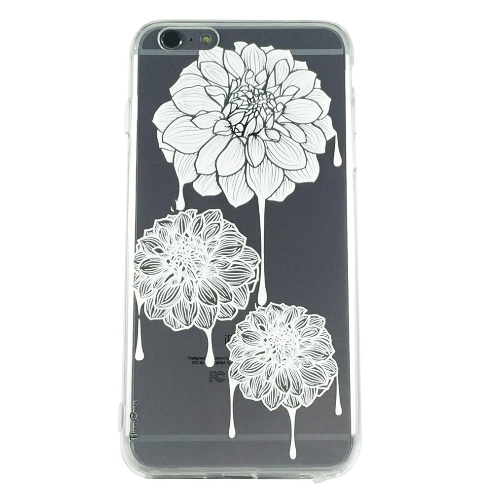 White Dahlia Drip Flowers - New Floral Dahlia Cell Phone Case iPhone 6 plus ip6 plus
