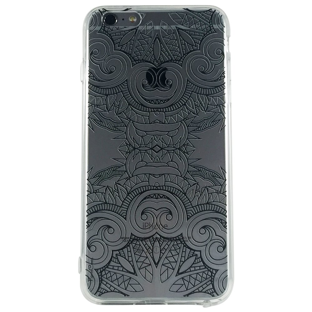 Black Mandala Pattern Type 2 - New Henna Mandala Cell Phone Case iPhone 6 plus ip6 plus