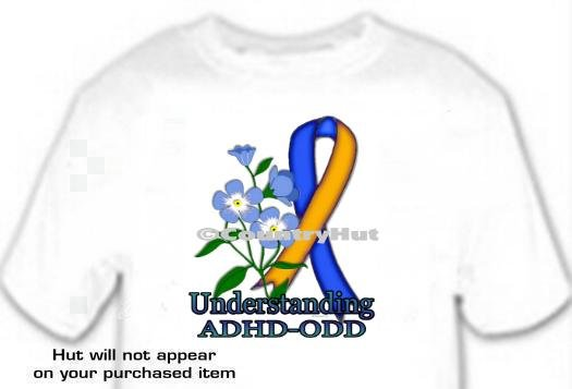 T-shirt, Understanding ADHD-ODD Awareness - Forget Me Not - (Adult 4xLg to 6xLg)