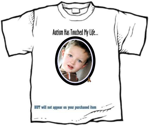 T-shirt, AUTISM HAS TOUCHED MY LIFE... your photo -  (adult 3xlg)