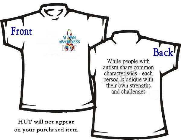 T-shirt, MY AUTISM RIBBON ~ Awareness - (adult Xxlg)