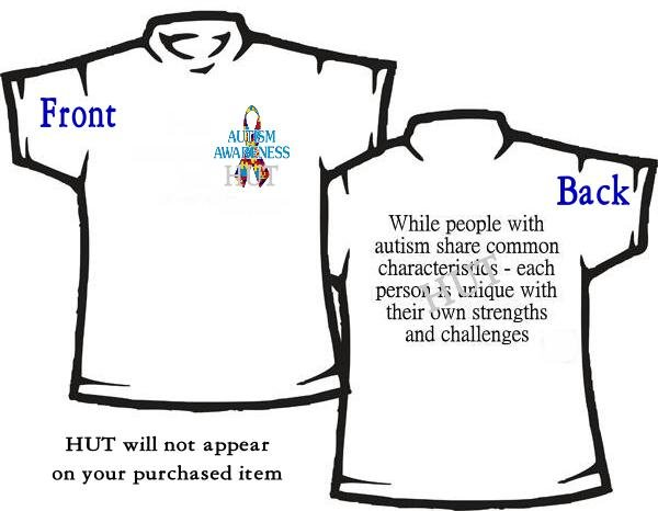T-shirt, MY AUTISM RIBBON ~ Awareness - (adult 3xlg)