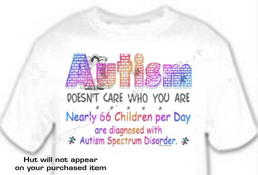 T-shirt, DOESN'T CARE WHO YOU ARE Autism Awareness - (adult 3xlg)