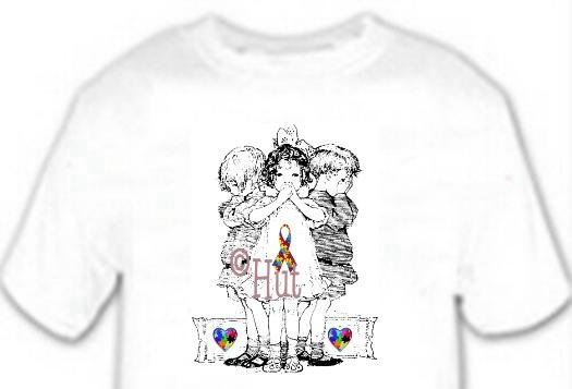 T-Shirt, Autism Awareness SEE, HEAR, SPEAK, - (adult 3xlg)