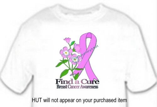 T-shirt, BREAST CANCER AWARENESS, FORGET ME NOT - (Adult 4xLg - 5xLg)
