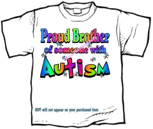 T-Shirt , Autism Awareness PROUD BROTHER #3 - (Adult 4xLg - 5xLg)