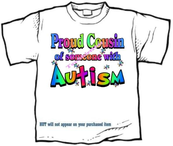T-Shirt , Autism Awareness PROUD COUSIN #3 - (adult Xxlg)