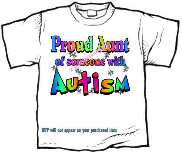 T-Shirt , Autism Awareness PROUD AUNT #3 - (adult Xxlg)