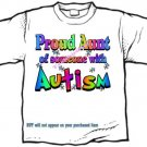 T-Shirt , Autism Awareness PROUD AUNT #3 - (adult 3xlg)