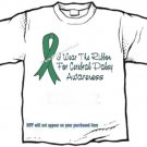 T-shirt, CEREBRAL PALSY Awareness, I Wear The Ribbon - (youth & Adult Sm - xLg)