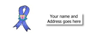 90 COLON CANCER AWARENESS RIBBON Address Labels