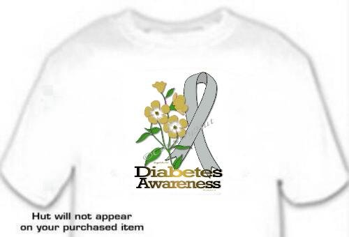 T-shirt, DIABETES Awareness FORGET ME NOT -  (Adult 4xLg - 5xLg)