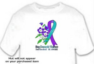 T-shirt, DOMESTIC VIOLENCE, FORGET ME NOT Be Aware - (adult Xxlg)