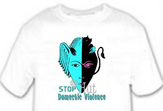 T-shirt, STOP!! Domestic Violence - (adult 3xlg)