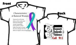 T-shirt, REPORT Domestic Violence, CALL 911 - (adult 3xlg)