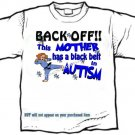 T-shirt, This MOM has a BLACK BELT in AUTISM awareness - (adult 3xlg)