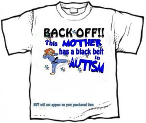 T-shirt, This MOM has a BLACK BELT in AUTISM awareness - (Adult 4xLg - 5xLg)