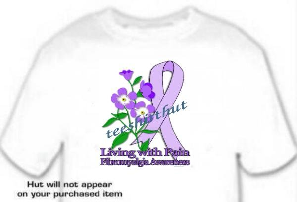 T-shirt FIBROMYALGIA AWARENESS, Living with Pain - (adult 2xlg - 3xlg)