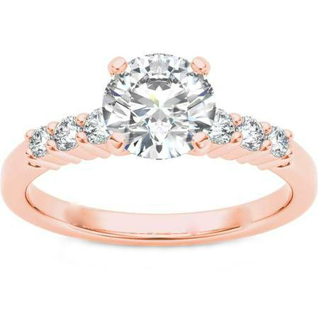 GORGEOUS 1.00 CARAT DIAMOND 14KT ROSE GOLD ENGAGEMENT RING Size 7