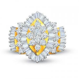 AWESOME 2.0 CTW YELLOW GOLD DIAMOND  ENGAGEMENT RING  with FREE DIAMOND EARINGS