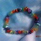 top quality massive strechy genuine colorful gemstones  7 chakra bracelet
