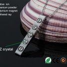 Magnetic Therapy Necklace 316L Stainless Steel With Austria Zircon Crystal Jewelry