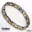 New Hot Fashion Tungsten Steel Energy Balance Bracelet - Gold Plated/White/Black