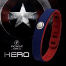 Super Hero Power Ionics 3000 ions Sports Titanium Bracelet - Capt America/IronMan//Flash/Batman