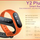 Y2+ 0.87' OLED Smart Fitness Bracelet Heart Rate+Blood Pressure+Oxygen - Black