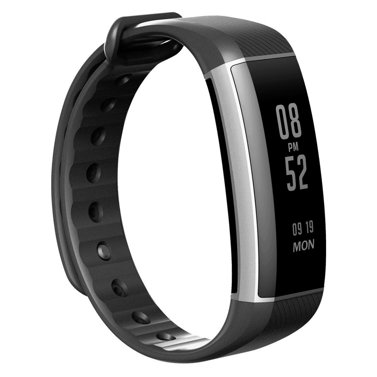 Zeband Plus Smart Sports Bracelet Heart Rate Monitor Pedometer Sleep BT 4.0 IP67 - Black