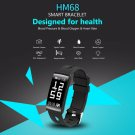 HM68 Smart Wristband Fitness Tracker Heart Rate Blood Pressure Blood Oxygen Sports Bracelet