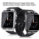 DZ09 HR Blood Pressure Heart Rate Monitor Fitness Tracker Sport Watch - Silver