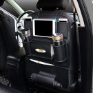 Multi-functional PU Leather Car Back Seat Storage Organizer Multi Pocket Phone Cup Holder Organizer