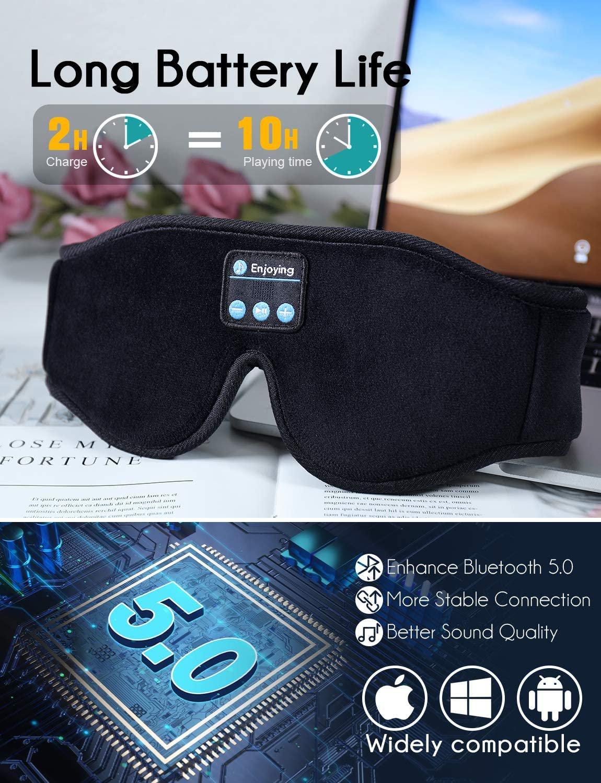 2021 New 3D Stereo Sleep Headphones Bluetooth 5.0 Wireless Music Eye Mask