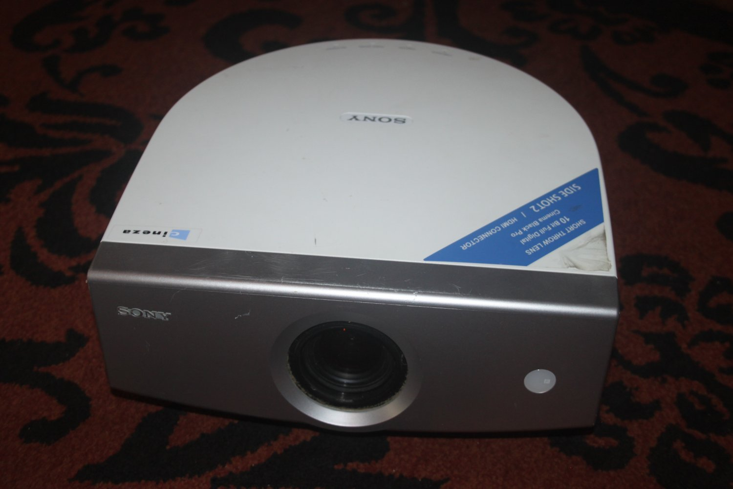 Sony VPL-HS3 LCD Projector-MAIN UNIT ONLY-NEEDS BULB-AS PICTURED 5/16