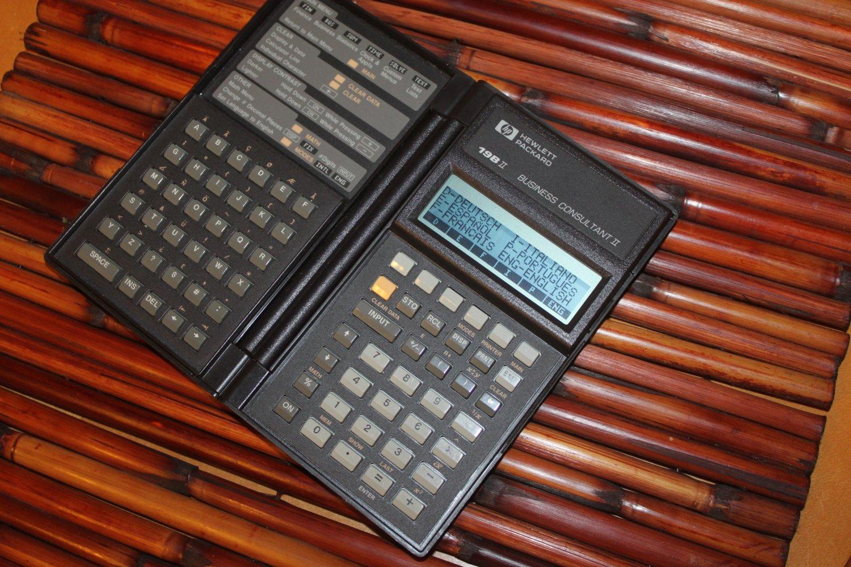 HP 19B II 19BII HP Vintage Business Calculator tested works W Batteries #1