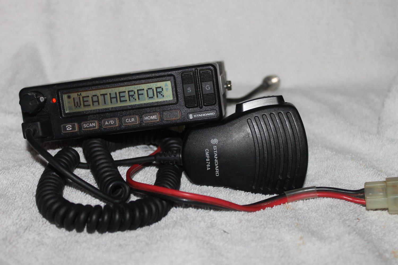 STANDARD GX4800UT TRUNKING TWO-WAY UHF FM MOBILE RADIO W CMP876A MIC USED