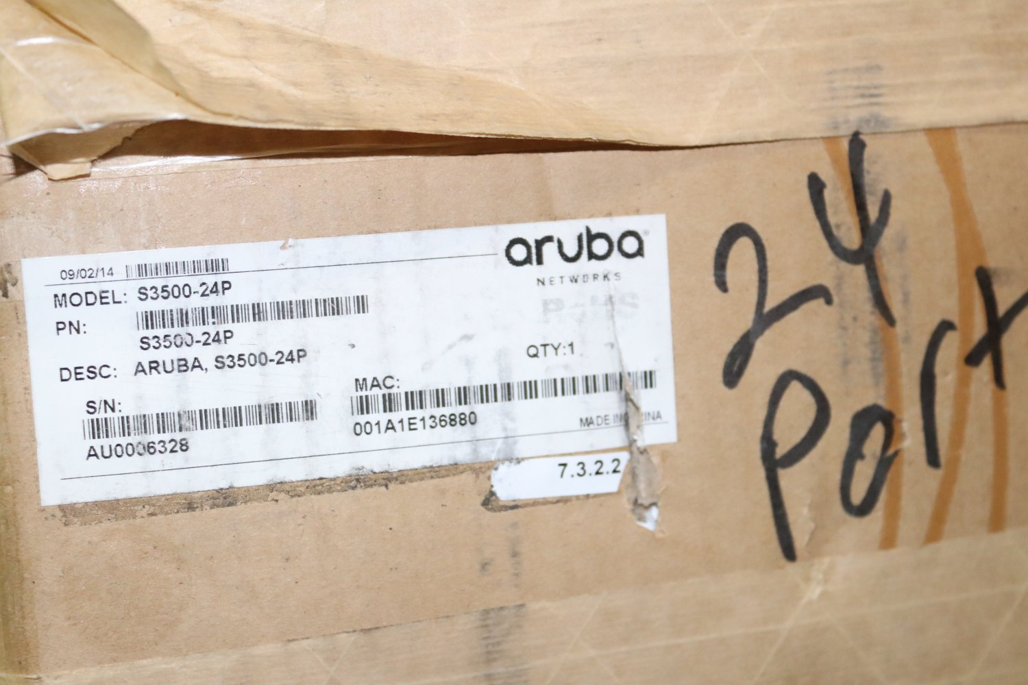 Aruba Networks S3500-24P Access Switch Open Box- New never used-8/19 #7