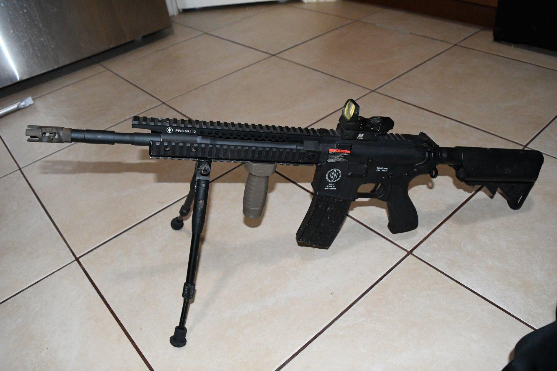 SOCOM Gear PWS M4 Mk112 Airsoft AEG Rifle needs WORK / RESTORATION NICE 515