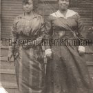 Antique African American Stylish Women Real Photo Postcard RPPC Black Americana