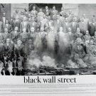 Black Wall Street 18x24 Black & White Poster Art Print African American History