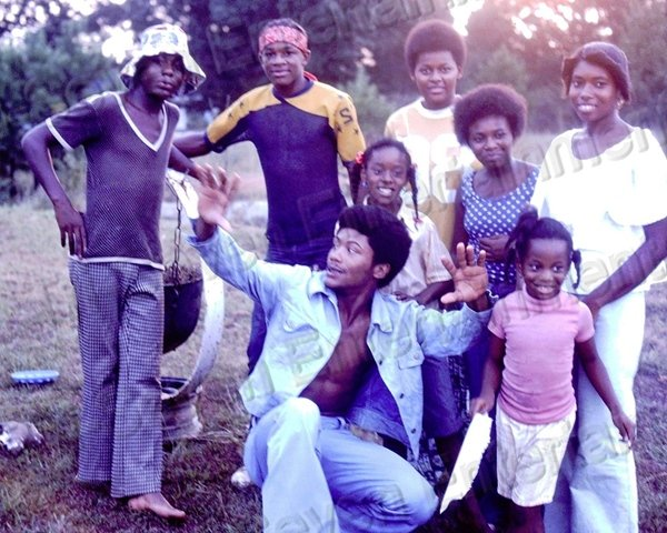 1974 Vintage African American Young Family Kids 8x10 Color Photo Black Americana