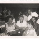 1940s African American Group Black People Vintage Old Photo Pretty Women Family