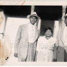 1940s Vintage Old Photo Two African-American Men & Woman Black Americana People