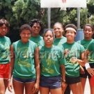 Vintage 1980s Black Women Basketball Team Photo African-American Team League